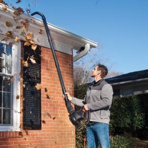 gutter cleaning leaf blower